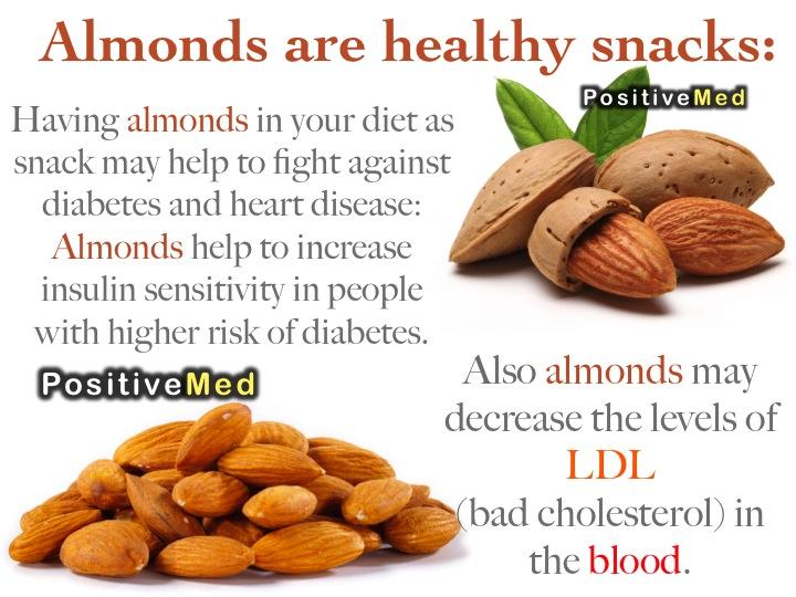 almonds healthy snacks