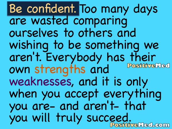 how to become positive and confident