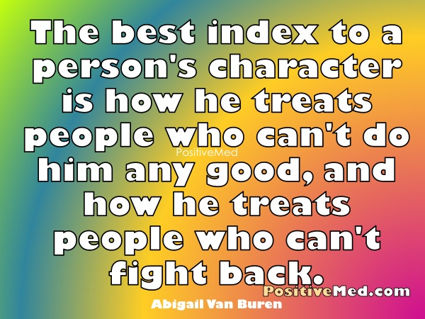 Greatest influence on a person s character