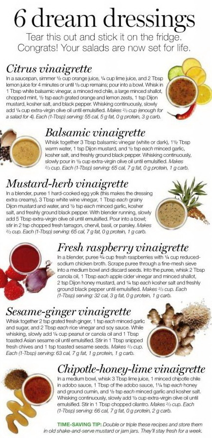 6 dream dressings