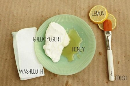 yogurt, lemon and honey mask