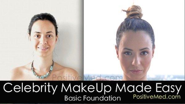 celebrity makeup tutorial before after