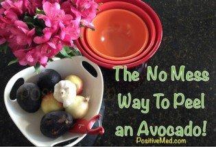 The  No Mess Way To Peel  an Avocado!