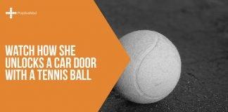 Watch How She Unlocks a Car Door With a Tennis Ball