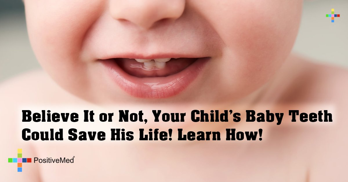 Believe It or Not, Your Child's Baby Teeth Could Save His Life! Learn How