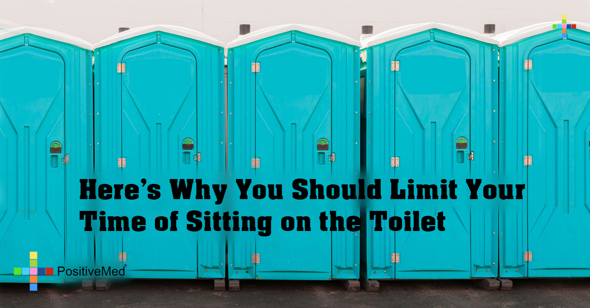 Here's Why You Should Limit Your Time of Sitting on the Toilet
