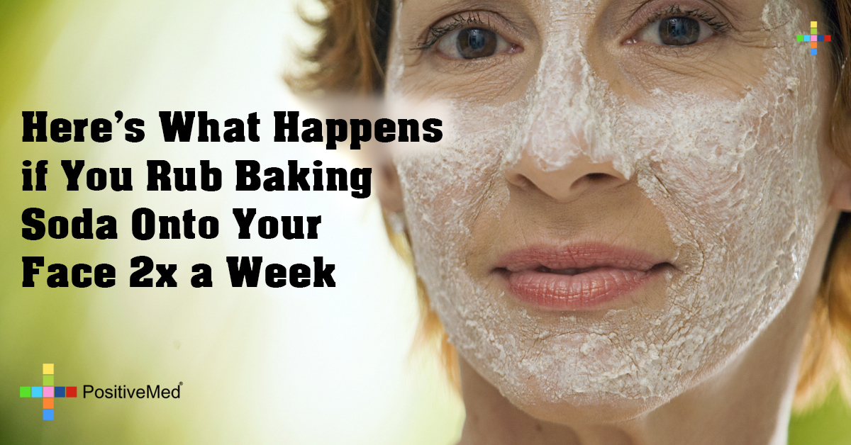 Here's What Happens if You Rub Baking Soda Onto Your Face 2x a Week