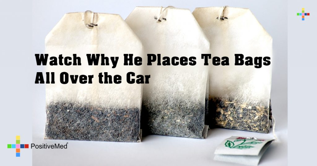 Watch Why He Places Tea Bags All Over the Car