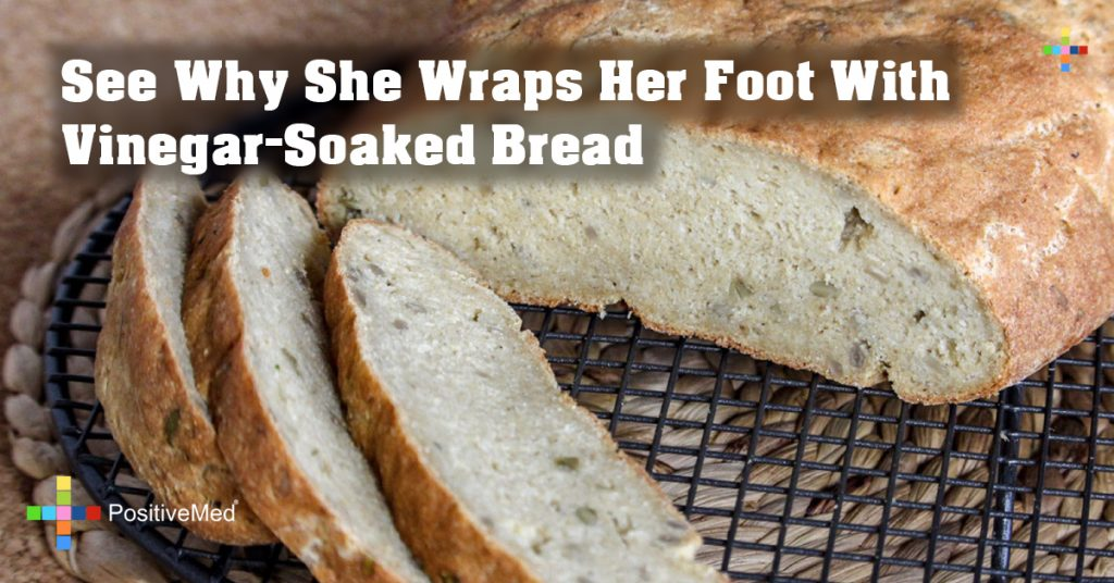 See Why She Wraps Her Foot With Vinegar-Soaked Bread